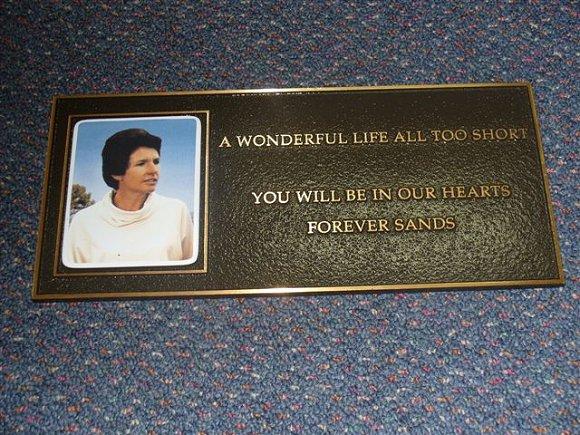 Memorial Plaque Forever