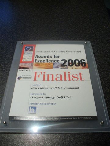 Peregian Beach Springs Gold Club Award For Excellence 2006 - 2
